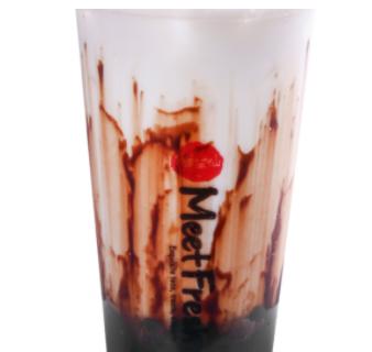 【鲜芋仙】Fresh Milk W.Chocolate Syrup & Black Sugar Boba 巧克力黑糖珍珠鲜奶