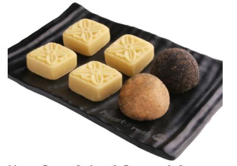 【鲜芋仙】Mung Bean Cakes & Peanut & Sesame Mochi Combo绿豆糕麻糬拼盘
