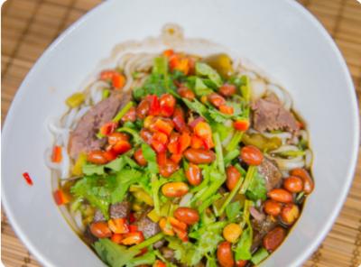 【滋味湖南】Marinade Noodle with beef and peanut 湖南卤粉