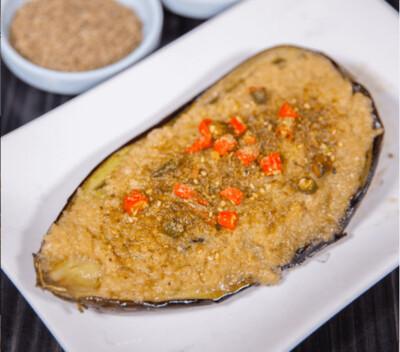 【新疆烧烤】Eggplant With Garlic Sauce 蒜蓉烤茄子1份(Closed Tuesday)