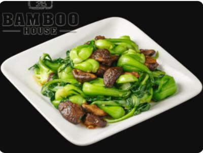 【竹苑】Stir Fried Bok Chpy with Chinese Mushroom 鲜冬菇炒清江菜苗(仅周四周五)