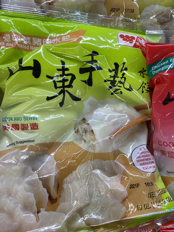 【RF】味全 山东手艺水饺 酸白菜猪肉馅 21oz