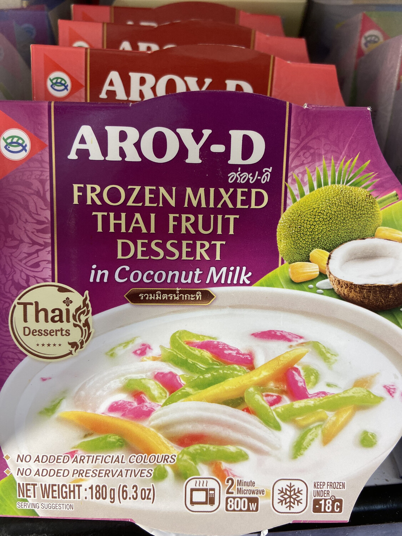 【RDF】Frozen Mixed Thai Fruit In Coconut Milk 180g泰式什锦椰奶甜点