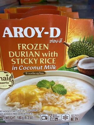 【RDF】 Frozen Durian With Sticky Rice In Coconut Milk 榴莲椰奶糯米甜点 180g 微波加热2分钟即可
