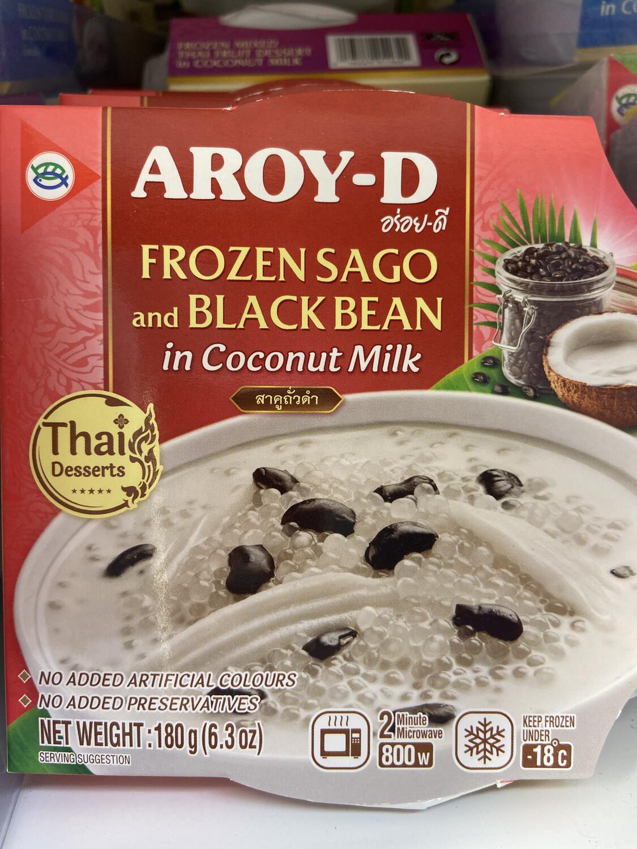 【RDF】 Frozen Sago And Black Bean  In Coconut Milk黑豆椰奶西米露甜点 180g 微波加热2分钟即可