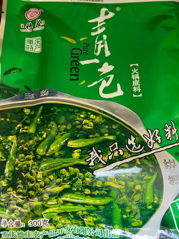 【RG】Pure Green Hot & Spicy seaso 青一色火锅底料 德庄 300g