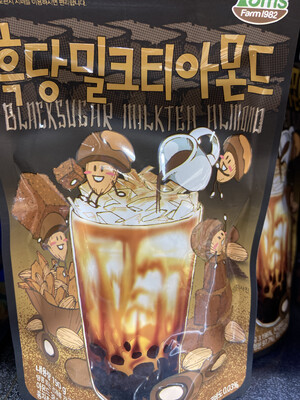 【RBG】韩国 黑糖奶茶杏仁 190g