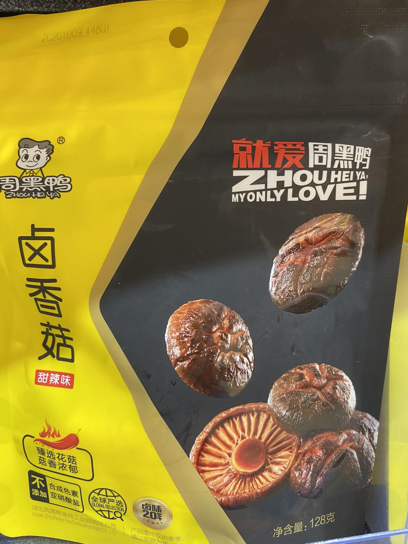 【RBG】周黑鸭 卤香菇 甜辣味 135g