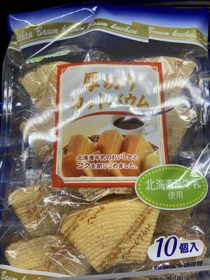 【RBF】Marukin Cheese Baymkuchen Cake日本北海道牛乳厚切小蛋糕 10枚入