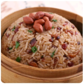 【金冠】Sticky Rice w/Chinese Sausage(L)生炒糯米饭(L)