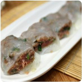 【金冠】Steamed Rice Noodle w/Beef(L)香茜牛肉肠粉(L)
