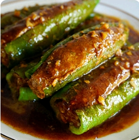 【金冠】Pan Fried Stuffed Bell Pepper(M)百花酿青椒(M)