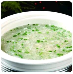 【金冠】Diced Fish & Egg White w/Mushroom Soup西湖鱼茸羹