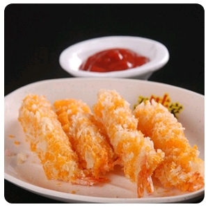 【金冠】Shrimp Rolls Wrapper w/Bacon(4)玉龙卷(4)