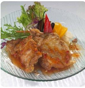 【金冠】Pork Ribs w/Orange Sauce香橙焗肉排