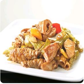 【金冠】Pork Intestine Sauteed w/Pickled Vegetable酸菜大肠