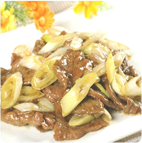 【金冠】Sliced Beef w/Ginger & Scallion葱爆牛肉