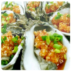【金冠】Oyster w/Honey Pepper Sauce(spicy)蜜椒生蚝(辣)