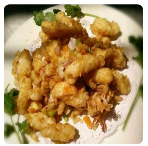 【金冠】Spicy Salt Toasted Fish Fillet(spicy)椒盐鱼球(辣)