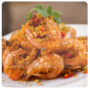 【金冠】Spicy Salt Toasted Shrimp(w/shell)(spicy)椒盐中虾(辣)