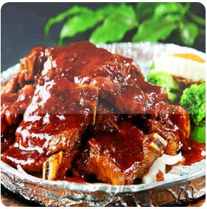 【金冠】Beef Short Ribs & Eggplant w/Pepper Sauce(spicy)黑椒茄子牛仔骨(辣)
