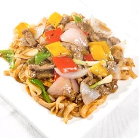 【金冠】Flat Rice Noodle w/Beef & Black Bean Sauce豉椒牛河