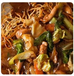 【金冠】Crispy Noodle w/Chicken鸡丝煎面