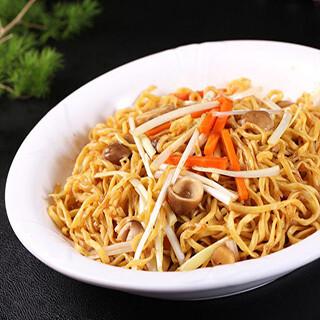 【华洋】Pan Fried E-Fu Noodle W. Yellow Chive 韭黄干烧伊面