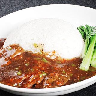 【华洋】Chicken Steak W. Black Pepper Sauce On Rice 黑椒鸡扒饭(辣)