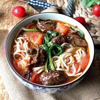 【华洋】Fresh Tomato Beef Noodle Soup 鲜茄牛汤面