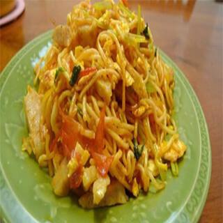 【华洋】Fried Noodle W. Egg & Shrimp 滑蛋虾球炒面