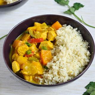 【华洋】Curry Chicken On Rice 咖喱鸡球饭(辣)