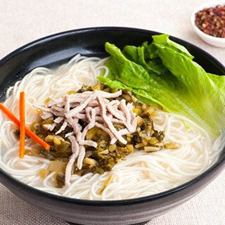 【华洋】Shredded Pork Vermicelli W. Pickled Veg. 雪菜肉丝汤米