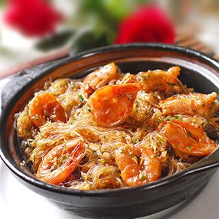 【华洋】Thai Style Shrimp W. Vermicelli Clay Pot 泰式粉丝鲜虾煲