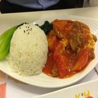 【华洋】Beef W. Egg & Tomato On Rice 鲜茄蛋牛肉饭