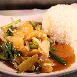 【华洋】Fish Fillet W. Black Sauce On Rice 豉椒鱼片饭
