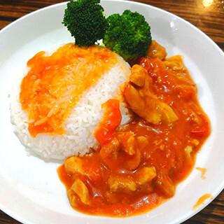 【华洋】Chicken Steak W. Tomato On Rice 鲜茄鸡扒饭