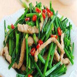 【华洋】Leek Flowers Stir Fried W. Sliced Pork 韭黄韭菜花炒肉丝