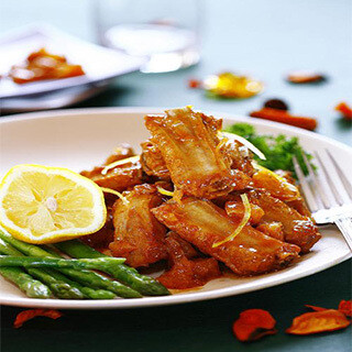【华洋】Crispy Fried Milk W. Orange Pork Chop 脆皮奶拼香橙骨