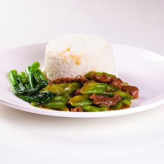 【华洋】Beef W. Bitter Melon On Rice 凉瓜牛肉饭