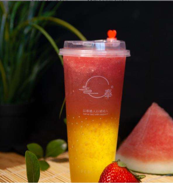 【奉茶】Summermelon Green Tea(No ice)