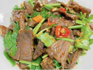 【十秒到】Sliced roasted beef in chili oil 苗家牛肉