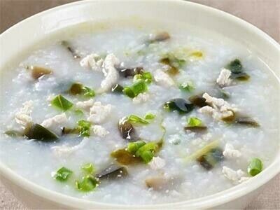 【北方面食】Minced Pork Congee W. Preserved Egg皮蛋瘦肉粥