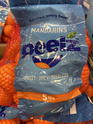 【RSP】California Mandarins Seedless 加州无籽小蜜桔 5lb