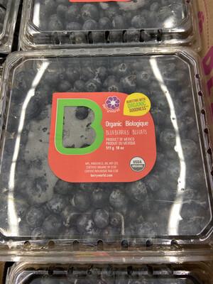 【RSP】Organic Blueberries 农场有机蓝莓 18oz