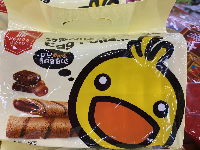 【RD】咔啰卡曼 巧克力夹心脆饼干 218g