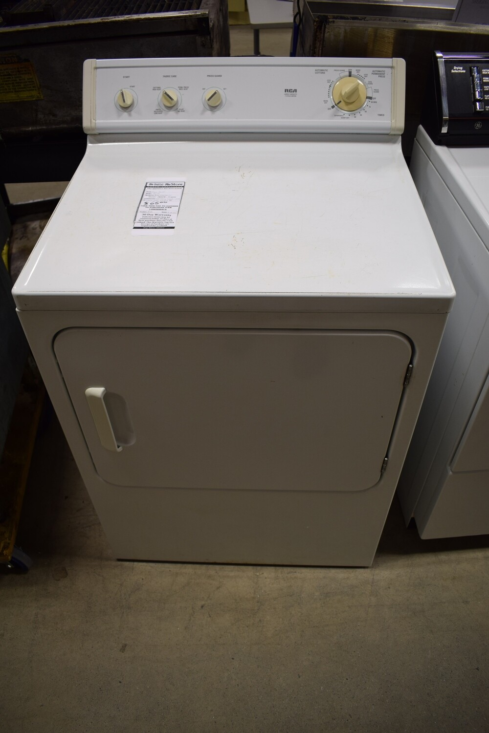 RCA Natural Gas Dryer