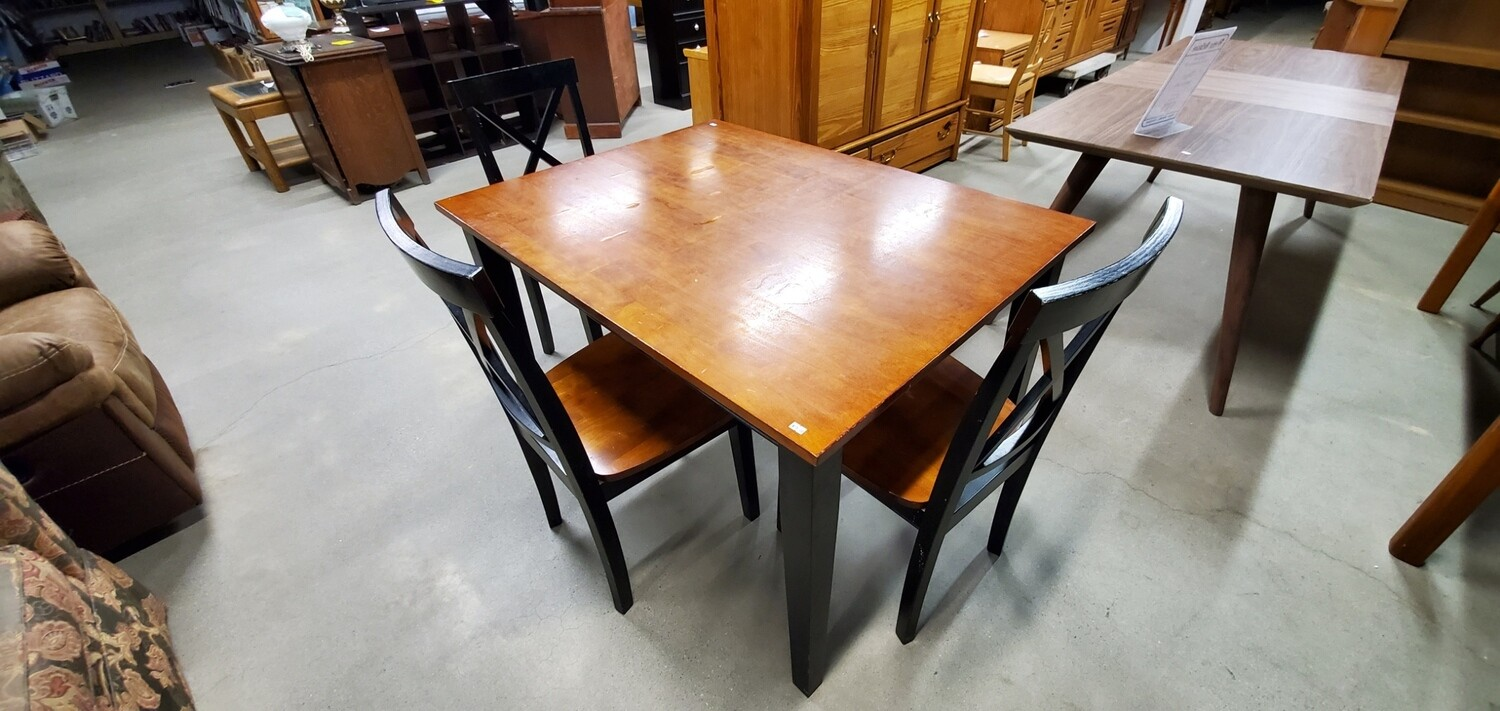 Black Table & Chair Set
