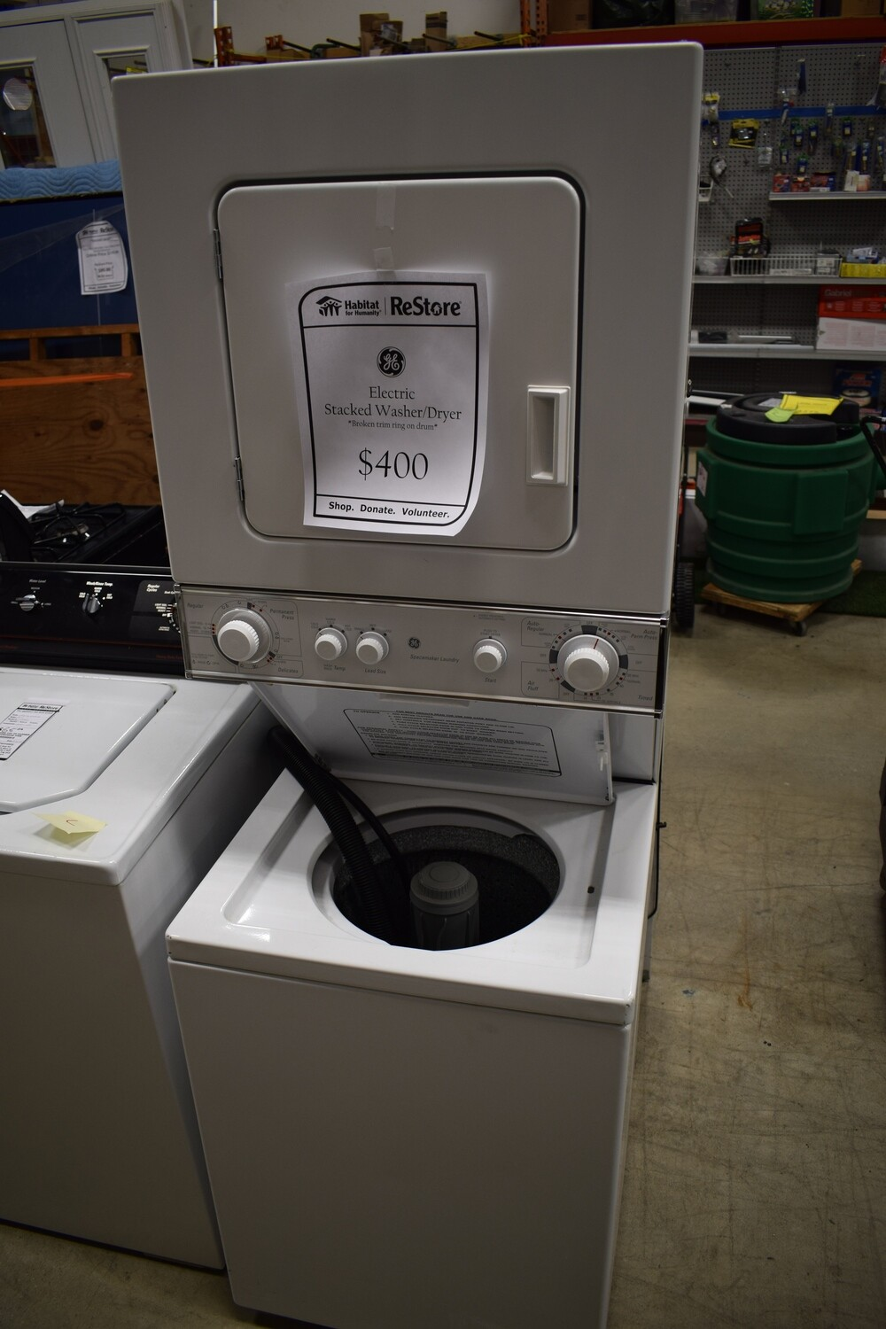 G.E. Electric Stacked Washer/Dryer