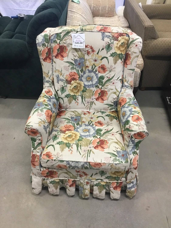 Floral Armchair